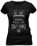 Women's: Supernatural - Hunting Creed T-Shirts