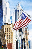 American Flag - In the Style of Oil Painting Giclee Print by Philippe Hugonnard