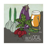 Buy Local Farmers Market Affiches par Shanni Welsh