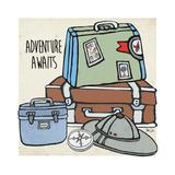 Travel-Adventure Awaits Poster par Shanni Welsh