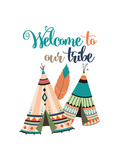 Welcome to Our Tribe Posters por Tamara Robinson