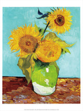 Three Sunflowers in a Vase (1883) Prints by Vincent van Gogh