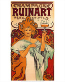 Champagne Ruinart Père et Fils. Rheims (1896) Kunstdrucke von Alphonse Mucha