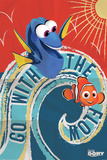 Finding Dory- Go With The Flow Posters