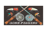 Gone Fishing-Rods and Reels Poster par Shanni Welsh