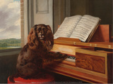 Portrait of an Extraordinary Musical Dog, 1805 Art by Philip Reinagle