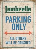 Lambretta Parking Only Metalen bord