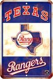 Texas Rangers Replay Tin Sign