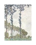 Wind Effect, Series of The Poplars 1891 Reproduction giclée Premium par Claude Monet