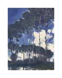 Poplars on the Epte, 1891 Reproduction giclée Premium par Claude Monet