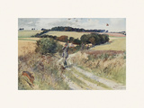 Partridge Shooting - September Premium Giclee-trykk av Lionel Edwards