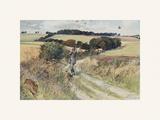 Partridge Shooting - September Exklusivt gicléetryck av Lionel Edwards