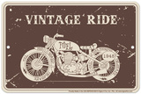Vintage Ride Blechschild