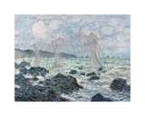 Fishing Nets at Pourville, 1882 Premium Giclee Print by Claude Monet