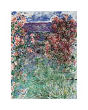 The House Among the Roses, 1925 Premium Giclée-tryk af Claude Monet