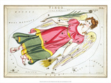 Urania's Mirror, Virgo, 1825 Poster by Sidney Hall