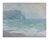 Rainfall, Etretat, 1886 Impressão giclée premium por Claude Monet