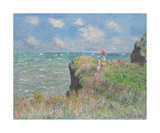 Cliff Walk at Pourville, 1882 Premium Giclee Print by Claude Monet