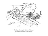 """I really prefer the quiet rhythms of the sewers to the hustle and bustle ..."" - New Yorker Cartoon Premium Giclee Print by Sidney Harris"