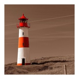 Red & White Lighthouse Posters por  PhotoINC Studio