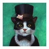 Tuxedo Cat Posters by Lucia Heffernan