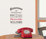Bienvenue Wall Decal