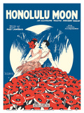 Honolulu Moon - Words and Music by Fred Lawrence 高品質プリント :  Pacifica Island Art