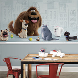 Secret Life of Pets XL Chair Rail Prepasted Mural Wallpaper Mural