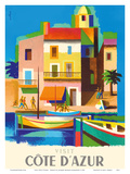 Visit Cote D'Azur - France - The French Riviera Posters tekijänä Jacques Nathan-Garamond
