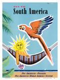 Fly to South America - Pan American - Panagra Kunst af Jean Carlu