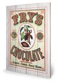 Fry's Chocolate Wood Sign Træskilt