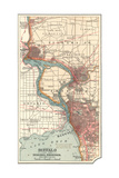 Map of Buffalo and the Niagara Frontier (C.1900) Giclee-trykk av  Encyclopaedia Britannica