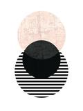 【北欧】幾何学模様(ピンク) 高品質プリント : Pop Monica