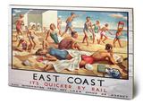 East Coast Beach Wood Sign Træskilt