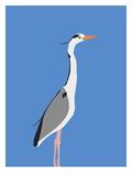 Heron Posters by Jorey Hurley