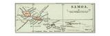 Inset Map of Samoa. South Pacific. Oceania Gicléedruk van  Encyclopaedia Britannica