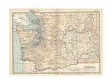 Map of Washington State. United States Gicléedruk van  Encyclopaedia Britannica