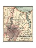 Map of Rochester (C. 1900), Maps Gicléedruk van  Encyclopaedia Britannica