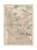 Map of Minnesota Giclee-trykk av  Encyclopaedia Britannica