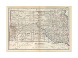 Plate 100. Map of South Dakota. United States Giclee-trykk av  Encyclopaedia Britannica