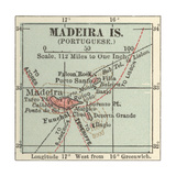 Inset Map of Madeira Island (Portuguese) Giclee Print by  Encyclopaedia Britannica