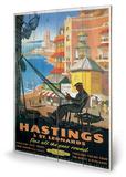 Hastings & St. Leonards Wood Sign Træskilt