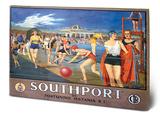 Southport Lido Wood Sign Cartel de madera