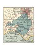 Map of Melbourne (C. 1900), Maps Giclee Print by  Encyclopaedia Britannica