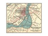 Map of Montreal (C. 1900), Maps Giclée-Druck von  Encyclopaedia Britannica