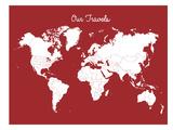 Our Travels Crimson Poster af Samantha Ranlet