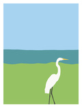 Egret Posters by Jorey Hurley
