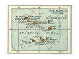 Inset Map of Cape Verde Islands (Portuguese) Gicléedruk van  Encyclopaedia Britannica