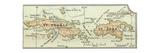 Inset Map of Saint Thomas and St. John Islands Impressão giclée por  Encyclopaedia Britannica