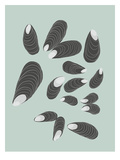 Mussels Print by Jorey Hurley